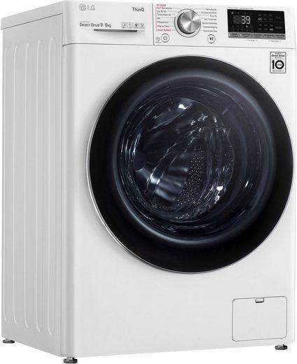 LG Waschtrockner V7WD96H1A, 9 kg, 6 kg 1400 U/min