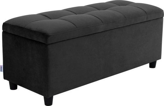 COUCH♥ Bettbank »Abgesteppt«, Mit Stauraum, Steppung in der Sitzfläche