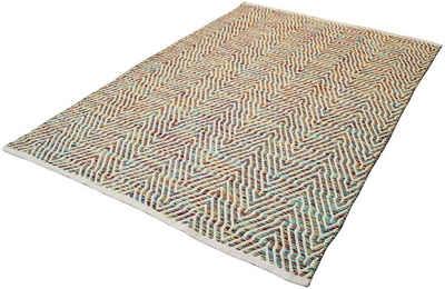 Teppich »Luba 433«, calo-deluxe, rechteckig, Höhe 7 mm, reine Baumwolle, Wohnzimmer