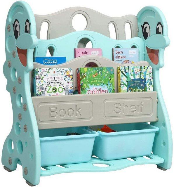 Regale - COSTWAY Bücherregal »Bücherregal Kinderregal«, mit 2 Aufbewahrungsboxen, umwandelbar, 2 Installationen, ideal für Kinderzimmer und Kindergarten  - Onlineshop OTTO