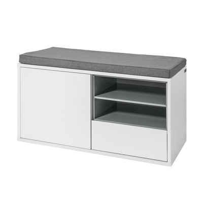 SoBuy Schuhbank »FSR37«, Sitzbank mit Sitzkissen Bettbank Schuhschrank Garderobenban