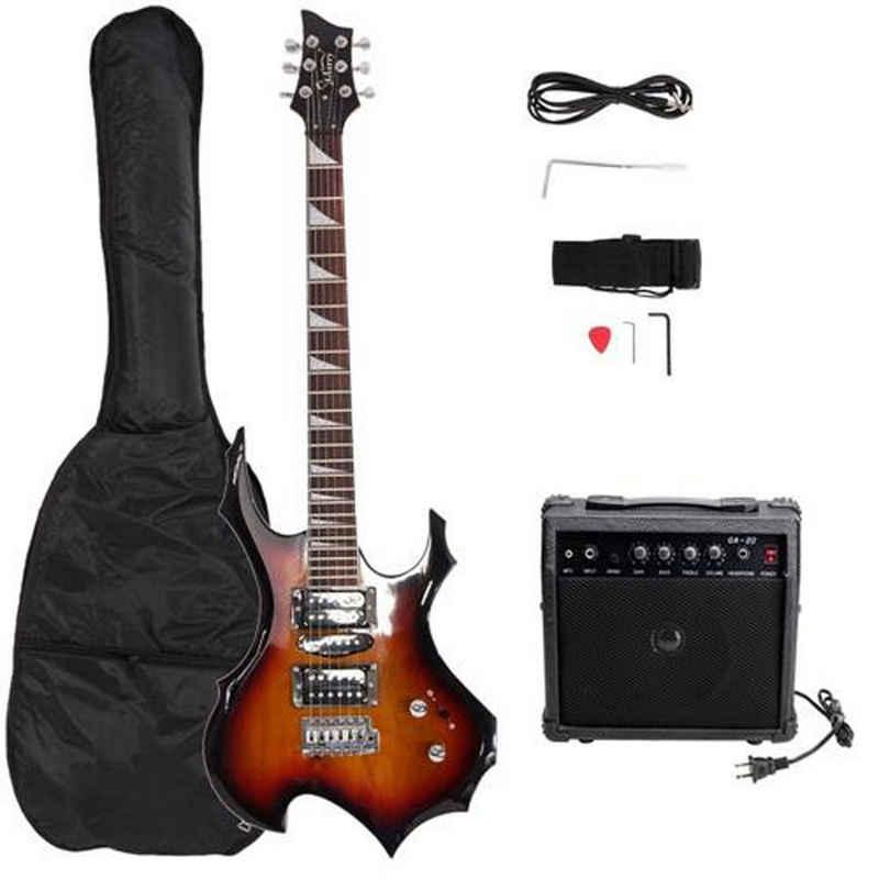 Masbekte E-Gitarre, Flame E-Gittarre für Einsteiger und Kinder