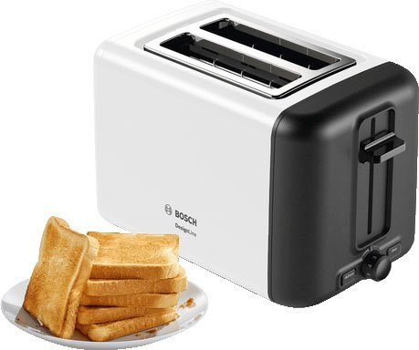 BOSCH Toaster TAT3P421DE DesignLine, 2 kurze Schlitze, für 2 Scheiben, 970 W