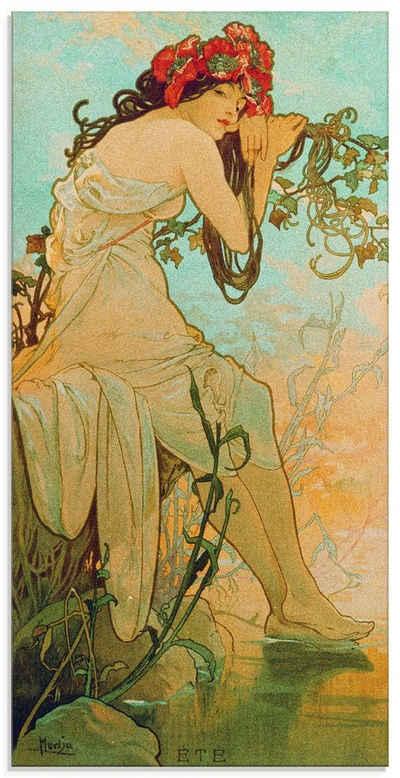Artland Glasbild »Jahreszeiten: Sommer. 1896.«, Frau (1 Stück)