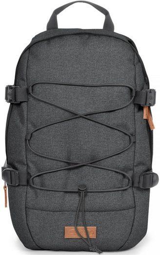 Eastpak Laptoprucksack »BORYS, Black Denim«, Mit Bungee-Seil, enthält recyceltes Material (Global Recycled Standard)