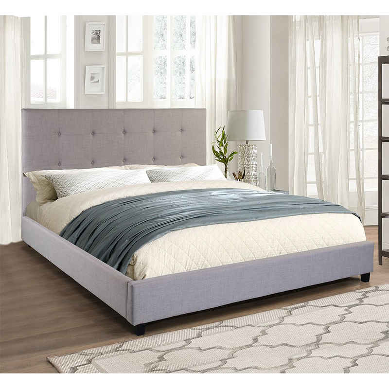 HOME DELUXE Bett »Marseille 180 x 200 cm«, extra großes gepolstertes Kopfteil