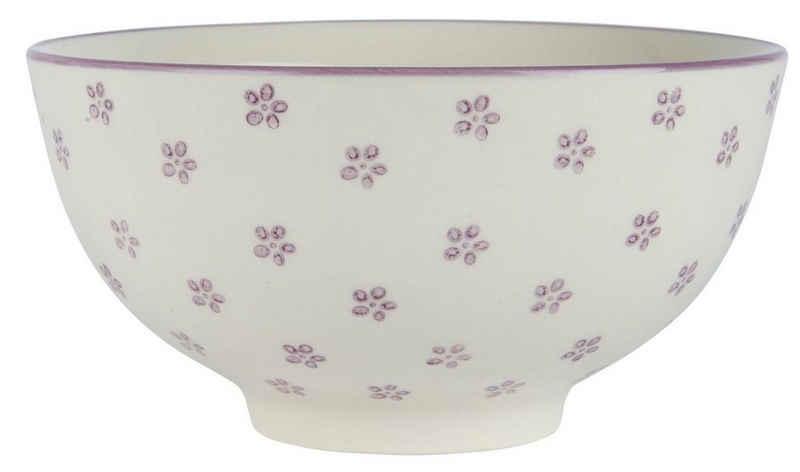 Ib Laursen Schüssel »Schale Schüssel Müslischale Dm 15cm Casablanca Bloom Lila Ib Laursen 1536-38«, Keramik
