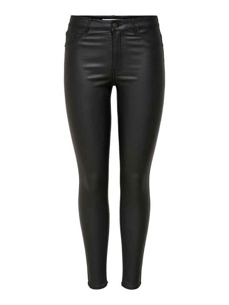 JACQUELINE de YONG Lederimitathose »3368« JDY Damen Hose Leder Optik Coated Skinny HARLEY