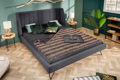 riess-ambiente Bett »LA BEAUTE 180x200cm anthrazit«, mit Ziersteppung