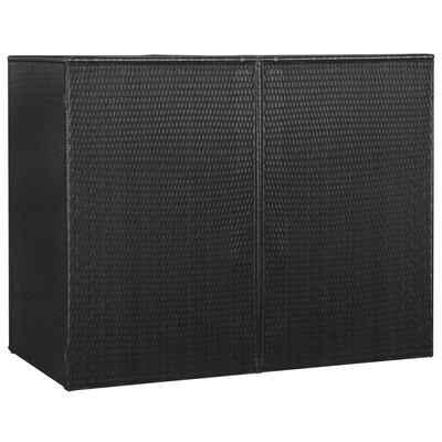 vidaXL Mülltonnenbox »vidaXL Mülltonnenbox für 2 Tonnen Schwarz 153 x 78 x 120 cm Poly Rattan«