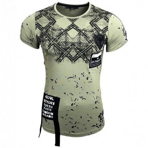Rusty Neal T-Shirt mit großem Front-Print