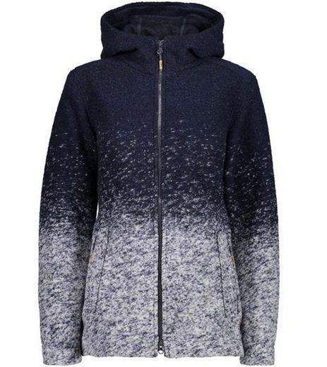 CAMPAGNOLO Sweater »Campagnolo Woll-Jacke kuschelige Damen Kapuzen-Sweatjacke mit Wooltech Sweater Navy-Blau«
