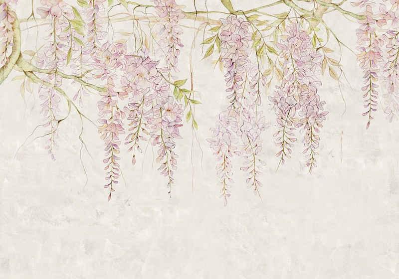 Komar Fototapete »Wisteria«, glatt, floral, Wald, natürlich, (Packung)
