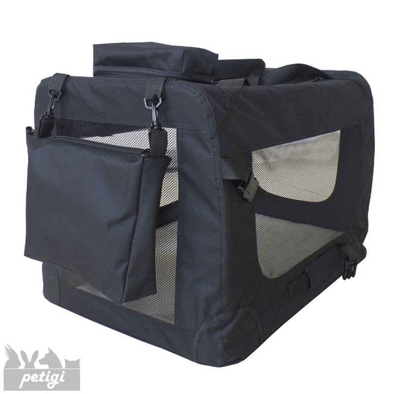 Petigi Tiertransporttasche »Transportbox Faltbar Faltbox Hund Transporttasche Katze Schwarz 7 Größen Petigi«
