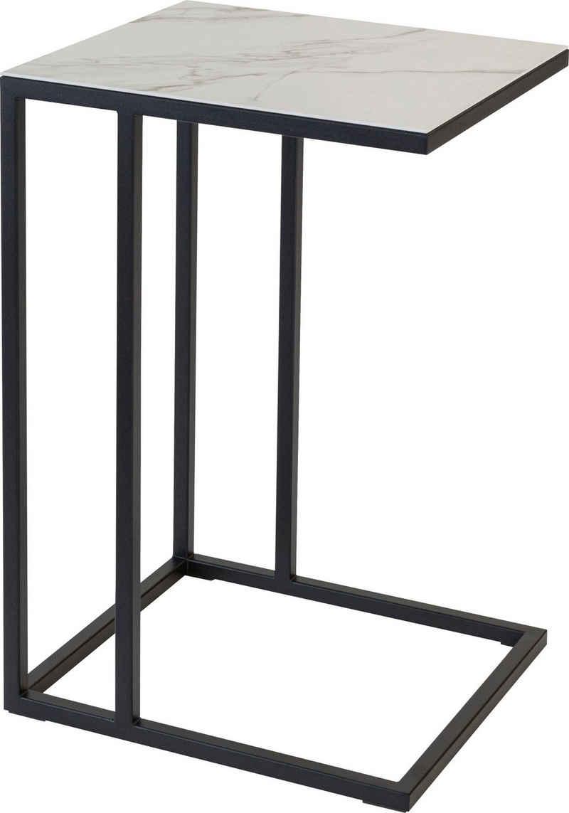 Henke Möbel Beistelltisch, Tischplatte aus hochwertiger Keramik