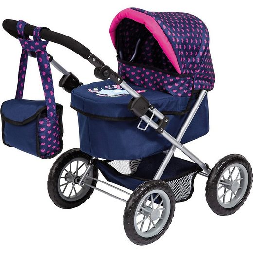 MyToys-COLLECTION Puppenwagen »Puppenwagen Trendy, Elefanten Motiv, blau/pink von«
