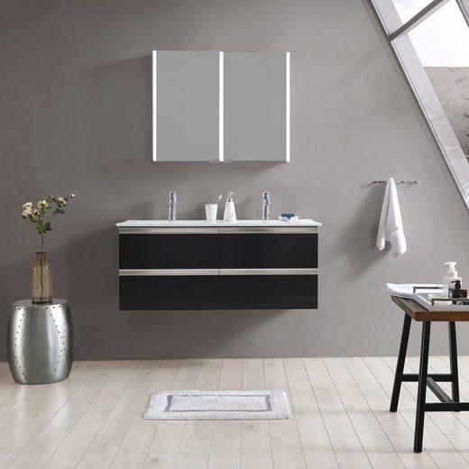 MAW Badezimmerspiegelschrank »A-SPS9070 LED-Spiegelschrank 2-teilig«, 90x12x70 cm