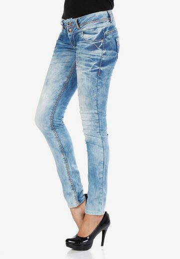 Cipo & Baxx Slim-fit-Jeans »CBW-0347A« in trendiger Waschung in Slim Fit