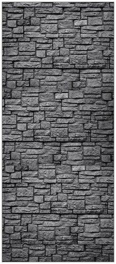MYSPOTTI Duschrückwand »fresh F2 Steinwand Anthrazit«, 90 x 210 cm
