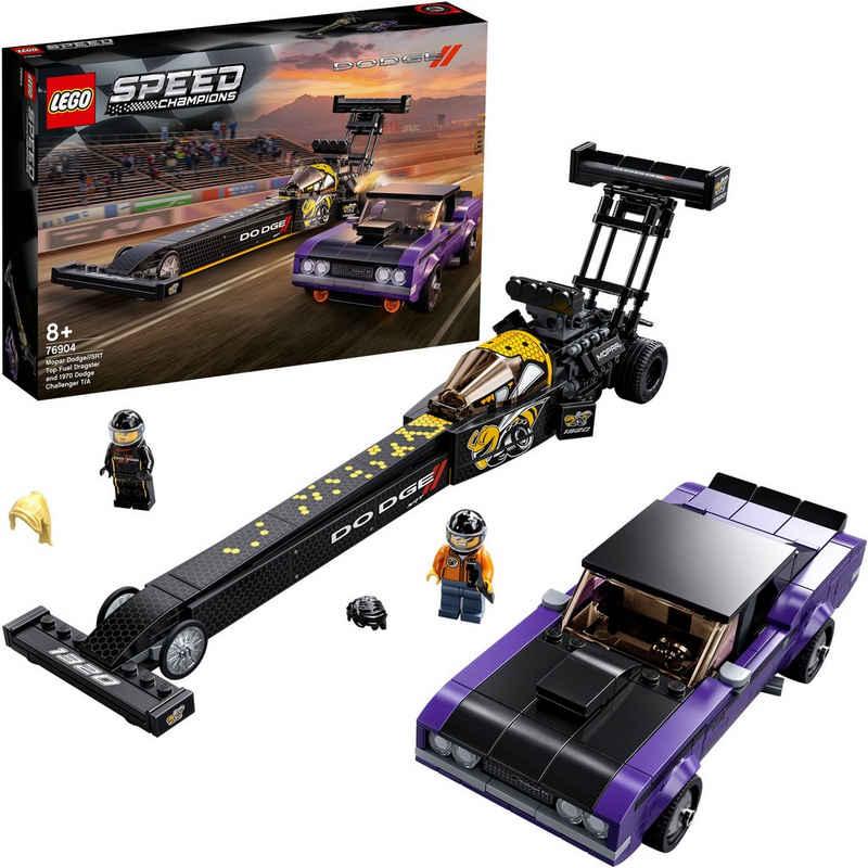 LEGO® Konstruktionsspielsteine »Mopar Dodge//SRT Dragster & 1970 Dodge Challenger (76904), LEGO® Speed Champions«, (627 St), Made in Europe