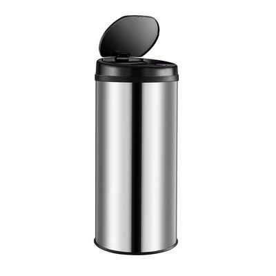 Deuba Mülleimer, 30 L LED Anzeige Automatischer Mülleimer Müllbehälter mit Bewegungssensor Wasserdicht Silber