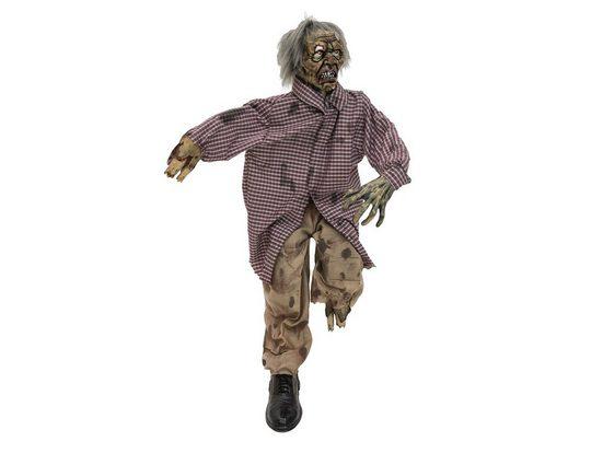 EUROPALMS Dekofigur »Bewegter, sitzender Zombie - animierte Halloween Figur - 120cm - Leuchtaugen und Geräusche - Sensor«