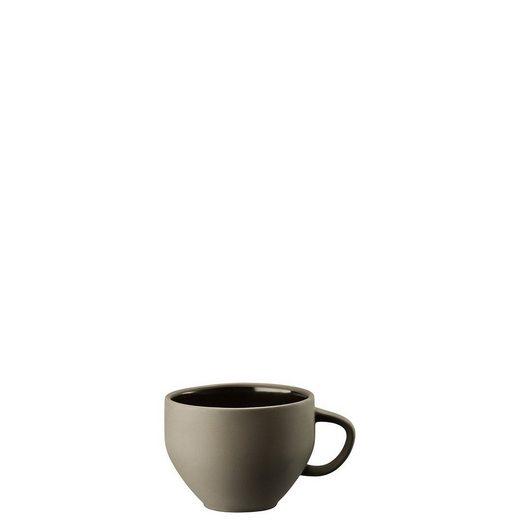 Rosenthal Tasse »Junto Slate Grey Kombi-Obertasse«, Steinzeug
