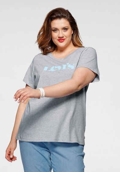 Levi's® Plus Rundhalsshirt »The perfect Tee« mit großem Levi's® Schriftzug auf der Brust