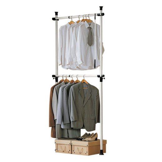 SoBuy Kleiderständer »FRG109«, Garderobenständer mit 2 Kleiderstangen