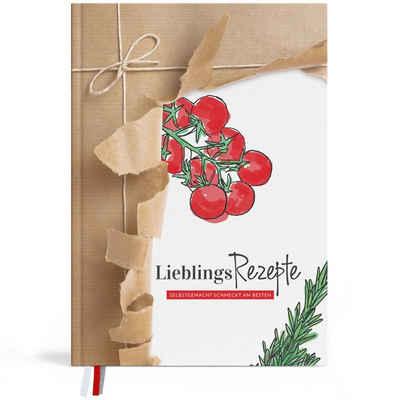 TOBJA Notizbuch »Rezeptbuch selberschreiben A4 Kochbuch Kochen«, Backen Hardcover DIY Packpapier Rezeptbuch zum selbst gestalten