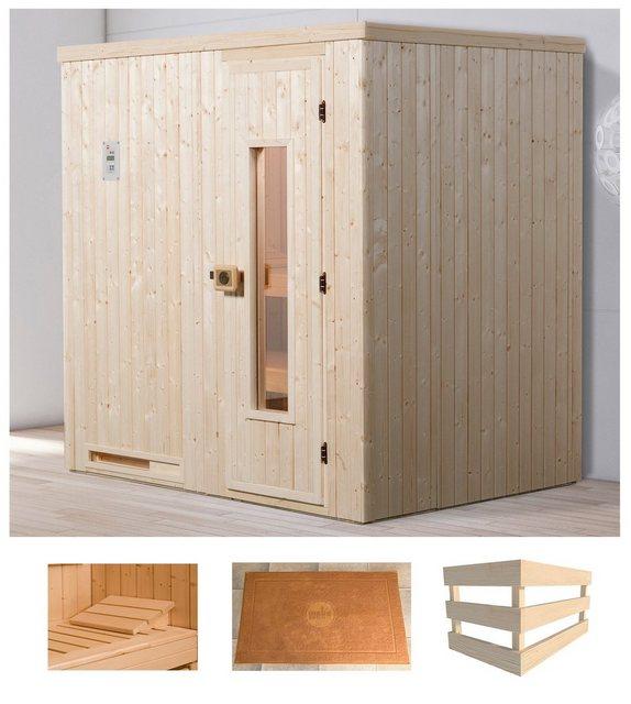 Saunen und Zubehör - weka Sauna »Halmstad 1«, BxTxH 194 x 144 x 199 cm, 68 mm, ohne Ofen  - Onlineshop OTTO