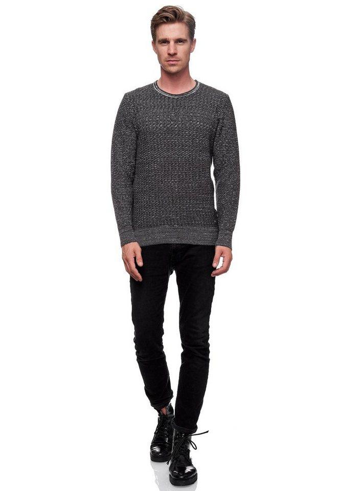rusty neal -  Rundhalspullover »Knitwear« mit dezentem Strickmuster