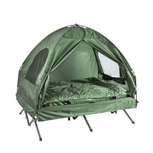 SoBuy Feldbett »OGS32« 4in1-Zelt mit Campingliege Schlafsack Luftmatratze und Zubehör Campingzelt 2 Personen