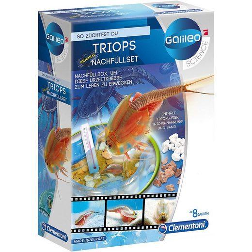 Clementoni® Lernspielzeug »Galileo - Original Triops - Nachfüllset«