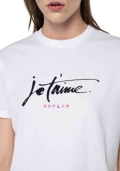 Replay T-Shirt mit großem Schriftzug