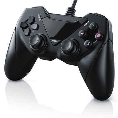 CSL Gamepad (1 St., USB Gamepad Controller für Android / PC / PS3 Dual Vibration / Direct-Input / X-Input)