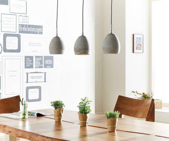DELIFE Hängeleuchte »Cirillo«, Grau 70x15 cm 3 Schirme Beton Hängeleuchte