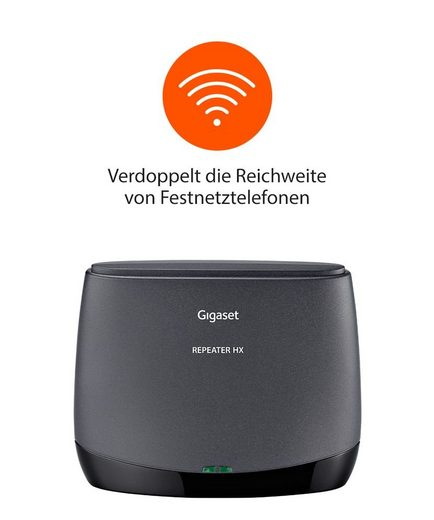 Gigaset »Bundle Gigaset Repeater HX + Family Twin AB Schnurlos-Telefone« Schnurloses DECT-Telefon