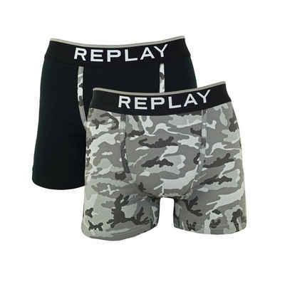 Replay Boxershorts »Logo & Camouflage« (2 Stück)