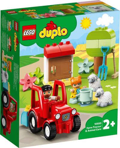 LEGO® Konstruktionsspielsteine »Traktor und Tierpflege (10950), LEGO® DUPLO® Town«, (27 St), Made in Europe