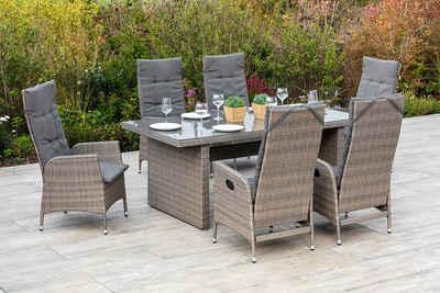 MERXX Gartenmöbelset »Molina«, (7-tlg), 6 Gartensessel mit Tisch