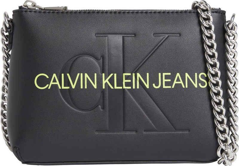 Calvin Klein Jeans Mini Bag »SCULPTED CAMERA POUCH W/CHA MONO«, mit neon Logoschriftzug
