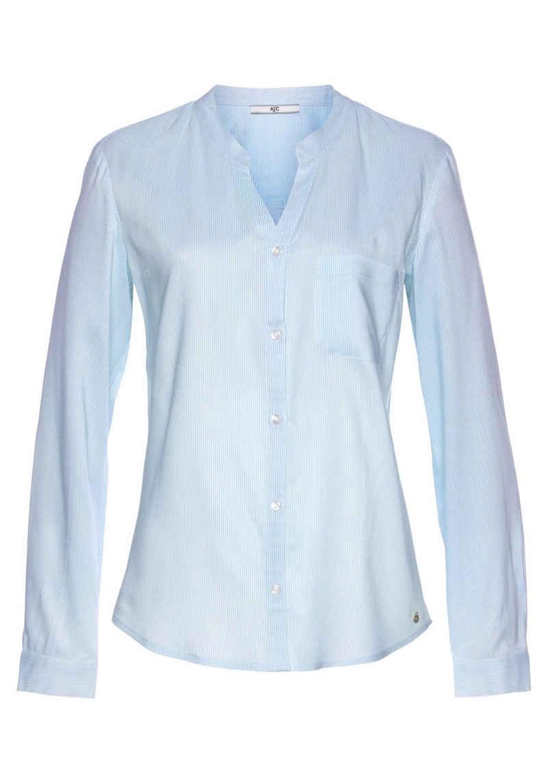 AJC Hemdbluse mit unterschiedlichen Druckvarianten oder in Uni