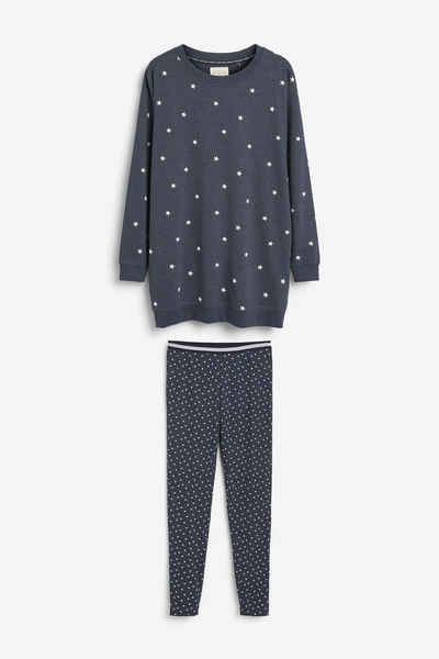 Next Pyjama »Set aus Baumwolle mit Tunika und Leggings« (2 tlg)