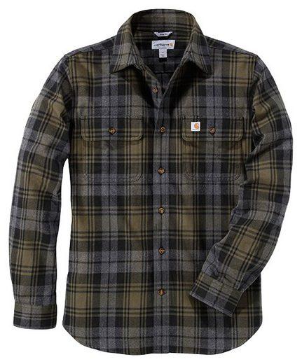 CARHARTT Hemd »Hubbard Slim Fit Flannel Shirt mos«