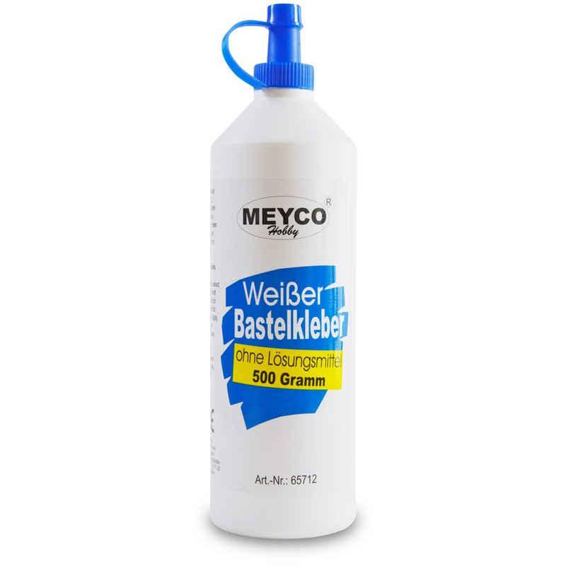 MEYCO Hobby Modellierwerkzeug »Weißer Bastelkleber 500 g − trocknet transparent − für Textil, Holz, Papier, Filz«, (1 St)