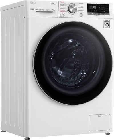 LG Waschtrockner V7WD107H2E, 10,5 kg, 7 kg, 1400 U/min
