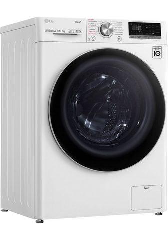 LG Skalbimo mašina-džiovyklė V7WD107H2E 1...