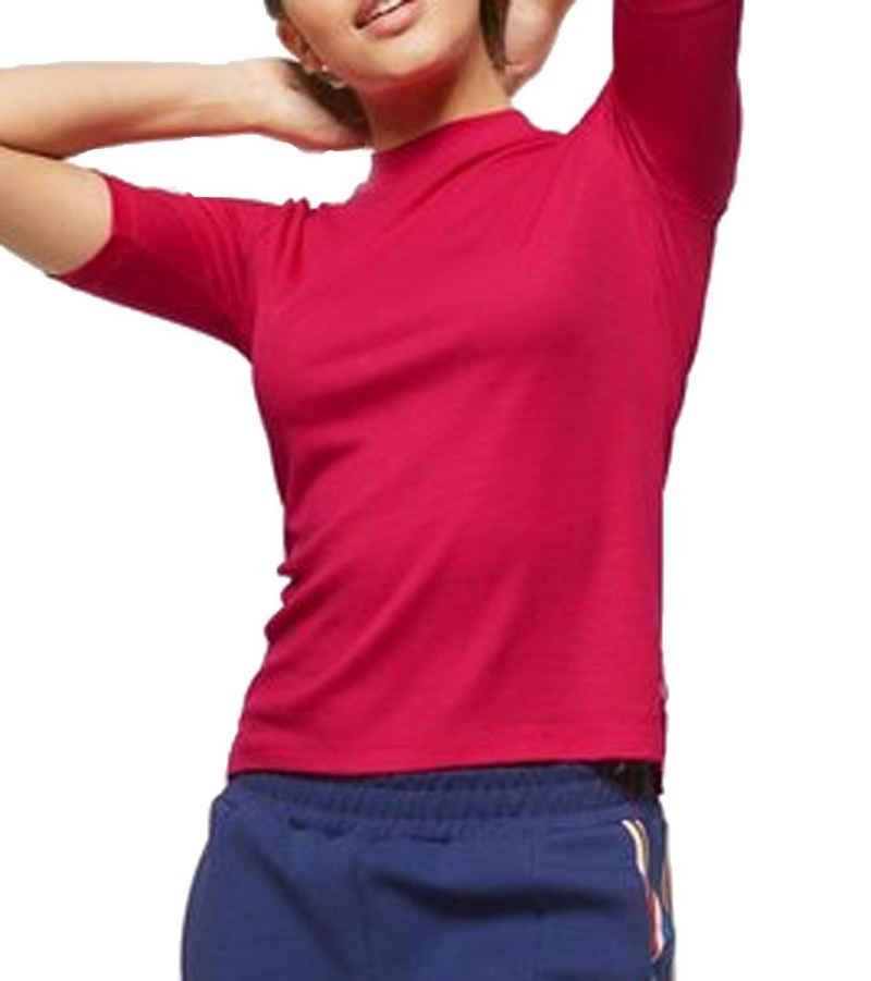 Scotch & Soda T-Shirt »SCOTCH & SODA T-Shirt modisches Damen Freizeit-Shirt Trend-Shirt mit halblangen Ärmeln Pink«