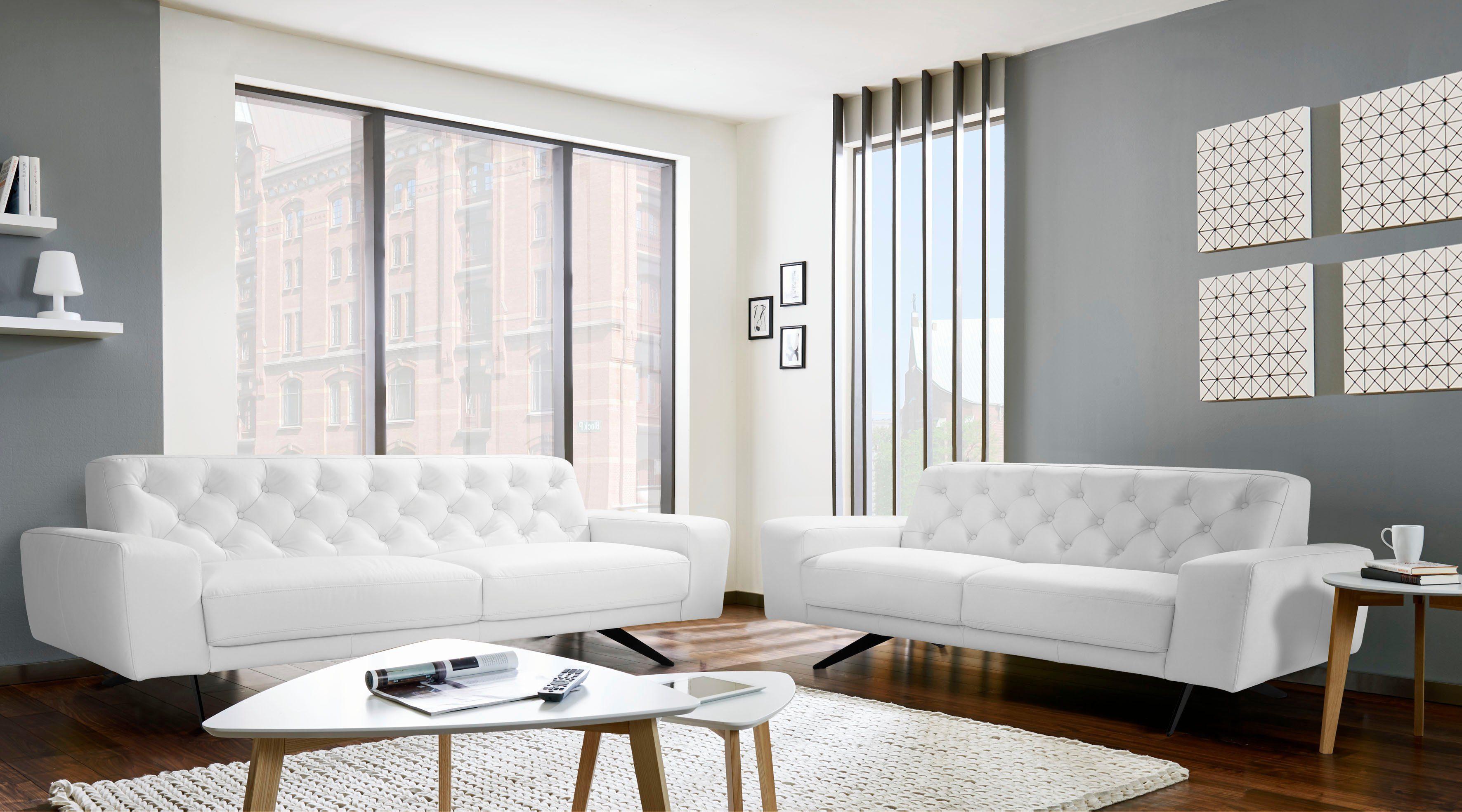 PLACES OF STYLE 3,5 Sitzer »Marinella«, in Naturleder online kaufen | OTTO